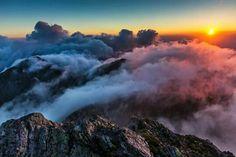 Fãgãraş Mountain, Romania - sunset