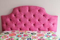 diy-bett-kopfteil-pink-stoff-polster-farbig-bunt