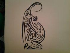 Pregnant love original in ink JimLand