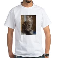 norwegian forest cat brown tabby sitting 2 T-Shirt