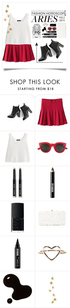 """""""A R I E S : flirty & fabulous"""" by the-punk-rock-princess ❤ liked on Polyvore featuring SWEET MANGO, Yves Saint Laurent, Bobbi Brown Cosmetics, Ardency Inn, NARS Cosmetics, Deux Lux, Livingly, fashionhoroscope and stylehoroscope"""