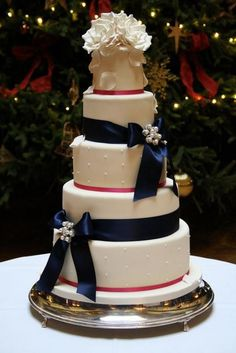 Fuchsia wedding cake. See more about navy wedding cakes, ribbon wedding cakes and cotton wedding.