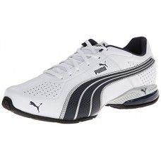 PUMA Men's Cell Surin Cross-Training Shoe,White/New Navy/PUMA Silver,10.5 M