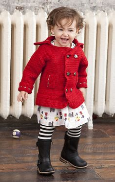 Pea-wee Coat by Vickie Howell Free Ravelry pattern download