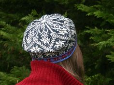 Amaryllis hat, a knitting design by Mary Ann Stephens.  Knit in Dale of Norway Baby Ull yarn.  Kits available through the designer at Kidsknits.com.