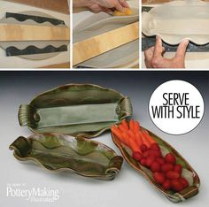 Planning on hosting or attending some upcoming events? Serve your food with style on a beautiful handmade tray, perfect to go with the warm spring weather!  In the July/August 2013 issue, Glenn Woods showed us how to use a simple wooden board to create signature pieces that can be used for all sorts of entertaining.  http://ceramicartsdaily.org/pottery-making-illustrated/pottery-making-illustrated-julyaugust-2013/