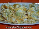 Receta Tortellini de espinacas al roquefort