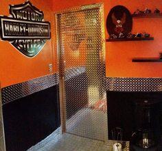 ... harley davidson bathroom decor ...