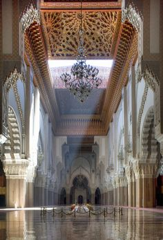 Hassan II Mosque, Casablanca, Morocco - Largest  mosque in the world.