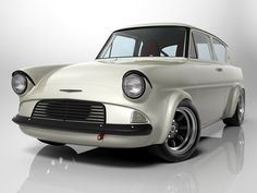 Studio shot of Ford Anglia Pimped Out Cars, Ford Anglia, Bentley Car, Ford Capri, Ford Classic Cars, Old Fords, Ford Escort, Automotive Art, Car Ford