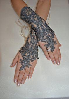 Wedding gloves bridal gloves fingerless lace by newgloves on Etsy, Steampunk Wedding, Gothic Wedding, Wedding Lace, Hand Gloves, Wedding Gloves, Victorian Goth, Handfasting, Steampunk Fashion, Belly Dance
