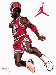 acb891de8e32 Caricaturas Michael Jordan - NBA TSEBA Atleta