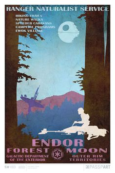 Star Wars Endor Travel Poster 12 x 18 by PasspArt on Etsy