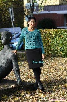 Rubrics, Crochet Clothes, Crochet Hooks, Crochet Projects, Crochet Patterns, Pullover, Knitting, Sweaters, Dresses