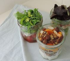 Packed lunches in a jar - all the things