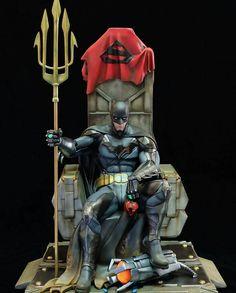 Batman Sitting On His Throne