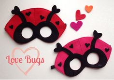 Love Bugs Valentines Day SPECIAL CHILD by oppositeoffar on Etsy, $16.00
