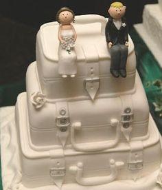 Γαμήλια τούρτα αποσκευές!
