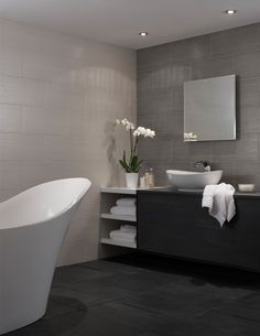 Inspired by one of the highest rated hotels in the world, Mokara has a clean structured design with a minimalist lined pattern; this contemporary ceramic wall tile has a delicately textured finish with an element of lustre.