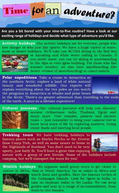 Adventure travel | LearnEnglishTeens