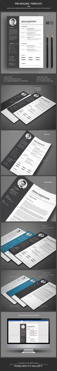 #Resume - Resumes #Stationery Download here: https://graphicriver.net/item/resume/19227098?ref=alena994