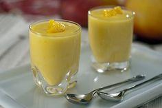 Sobremesa gelada de manga com gengibre