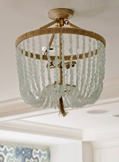 seaglass chandelier | Olson Lewis Architects and Kristina Crestin Design
