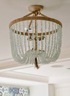 seaglass chandelier   Olson Lewis Architects and Kristina Crestin Design