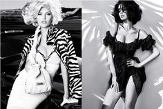 Summer 2011 Guess by Marciano campaign—which features Heide Lindgren, Sabrina Nait, Eugen Bauder, Evandro Soldati, and Brad Kroening. Shot in black and white by Alix Malka, the campaign backdrop is a historic aviation center and residence in Malibu and was inspired by Hollywood's Golden Age—and the inimitable stylings of women like Eva Gardner and Sophia Loren.