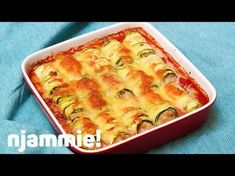 """Recept """"Lasagne van courgetterolletjes""""   njam!"""