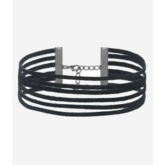 Rock N Rose Cora Multi Strand Suede Choker ($33) ❤ liked on Polyvore featuring jewelry, necklaces, multi-chain necklaces, choker necklace, multi row necklace, suede necklace and choker jewelry