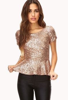 Glam Girl Peplum Top | FOREVER21 - 2031558308-- $24 -- I almost bought it, now I'm thinking, I should have just bought it! going back to get it. <3