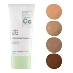 Arbonne Intelligence® - Arbonne CC Cream 4 Shade Set. Skincare meets cosmetics to create a beautiful, healthier-looking complexion. Lightweight coverage builds to conceal blemishes and dark spots, and minimize the appearance of pores while botanicals soothe and hydrate. Our formula primes, mattifies and brightens, for more even-looking skin tone. Beauty and smarts — our CC Cream has it covered. All four shades in one set to mix and match any skin tone.  http://luzmariaheredia.arbonne.com