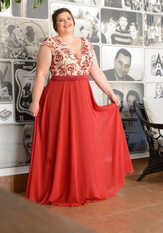 Vestidos Moda Festa Plus Size Plus Size Gowns, Plus Size Dresses, Plus Size Outfits, Hijab Evening Dress, Evening Dresses, Plus Size Fashion For Women, Plus Size Women, Fashion Women, Moda Festa Plus Size