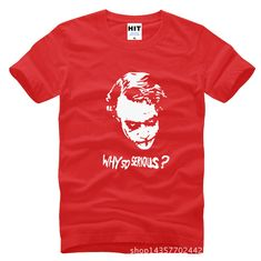 Batman The Dark Knight Joker Why So Serious Printed Mens Men T Shirt T shirt 2015. Click visit to buy #TShirt