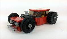 https://flic.kr/p/uHxDVS | VW GTI rat rod | My Lego version of a first-gen VW GTI rat rod. The real car runs a 440ci. Mopar big-block and a completely custom chassis.