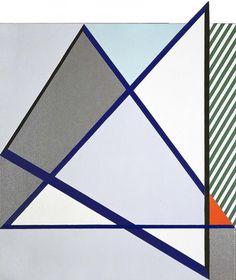 Roy Lichtenstein, Imperfect Painting (1987), via Artsy.net
