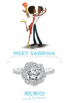 Sabrina is a modern woman who fills her home with fresh florals from the market and loves to experiment with nail art. She lives for happy hour with her girlfriends, but is a hopeless romantic who just can't get enough of her fiancé!  Click the pin to learn more about Sabrina and explore which ArtCarved Girl is best suited for your unique personality. #ArtCarvedBridal