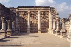 Capernaum was Jesus' hometown in Galilee and this synagogue is built right on top of the one Jesus preached in.