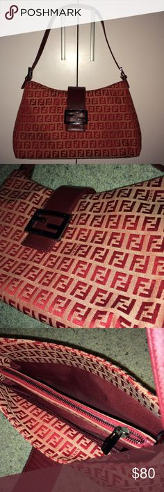 Vintage Fendi hand bag purse Vintage FENDI handbag - purse...Good vintage condition...one of my wife's favorite bags that she got for a birthday gift long time ago...not sure about the authenticity.. Fendi Bags Shoulder Bags