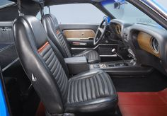 1969 Ford Mustang Shelby GT500 interior from the 2014 Mustang Dream Giveaway prize package. Sharp, huh?