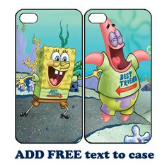 Spongebob-and-Patrick-BFF-Couple-Phone-Case-for-iPhone-6-PLUS-6-5-5s-4-4s
