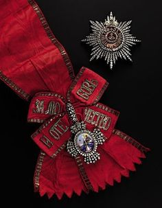 A full set of insignia of the Grand Cross of the Order of St. Catherine, circa 1889