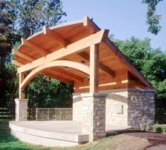 5 Timber Frames That Will Make You Want To Go Outside Timber Pergola, Timber Roof, Timber Frame Homes, Timber Frames, Outdoor Stage, Outdoor Pavilion, Outdoor Theater, Outdoor Furniture Plans, Gardens