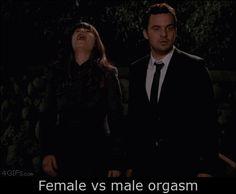 Female orgasm vs. male orgasm