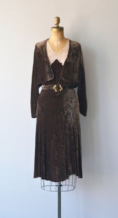 Santalum dress 1920s silk velvet dress vintage 20s by DearGolden