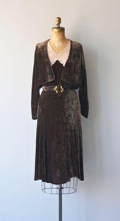 Santalum dress 1920s silk velvet dress vintage 20s by DearGolden