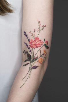 28 Gorgeous Wildflower Tattoos For Free Spirits