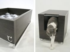Small Cat Litter Box Furniture | moderncat :: cat products, cat toys, cat furniture, and more…all ...