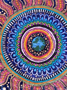 Every day is Earth Day Hand Painted Mandala Art on River Rock